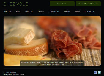 Chez Vous French Bistro website developed by wabuwa