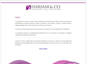Hariani & Co. website developed by wabuwa