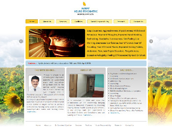 Manav Neuro Psychiatric Hospital website developed by wabuwa