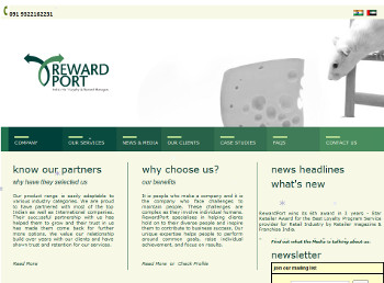 Rewardport website developed by wabuwa